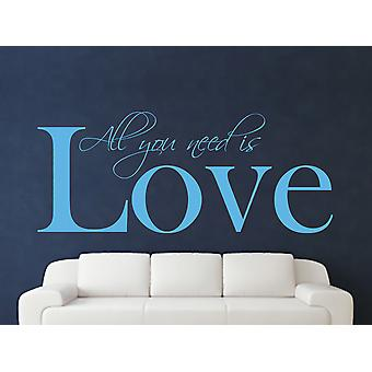 All You Need Wall Art Sticker - Arctic Blue
