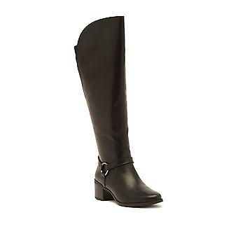 Anne Klein Womens Jamari Leather Almond Toe Knee High Fashion Boots