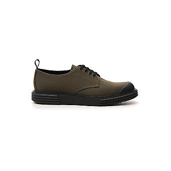 Prada Green Synthetic Fibers Lace-up Shoes
