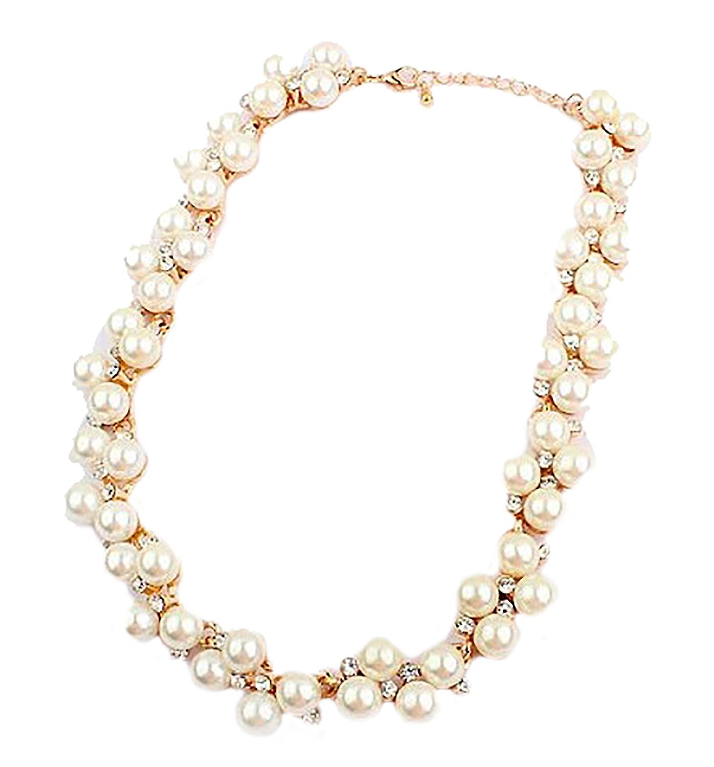 Waooh - elegant necklace with pearls and rhinestones