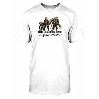 Slavernij einde deed of gewoon evolueren - uitdagende offerte Mens T Shirt