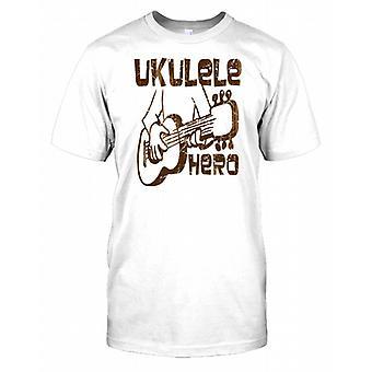 Ukulele Hero - Funny Music Mens T Shirt