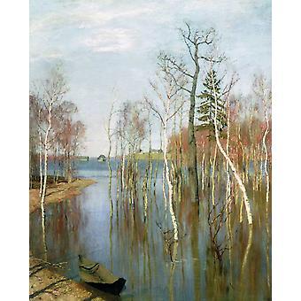 Spring,Flood Water,Ivan Shishkin,50x40cm