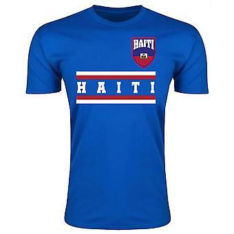 Haiti Core Football Country T-Shirt (Blue)