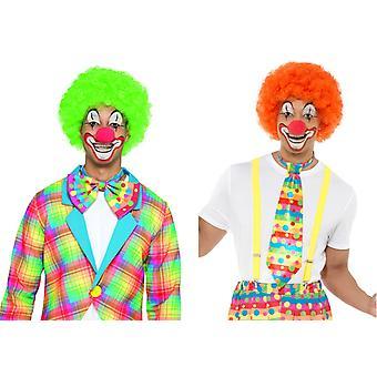 Klovn parykk tilbehør lokket sirkus Carnival parykk