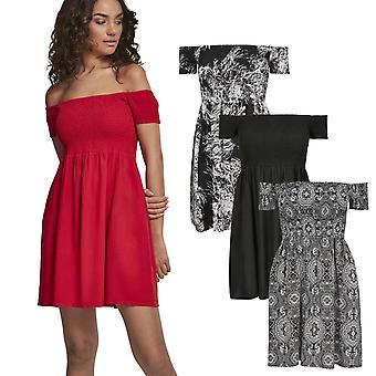 c23936be Urban Classics Ladies-røkt av skulder sommer kjole