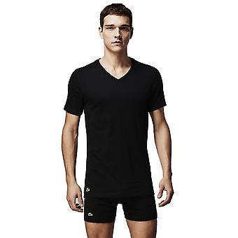 ラコステ v ネック 3 パック t シャツ ブラック