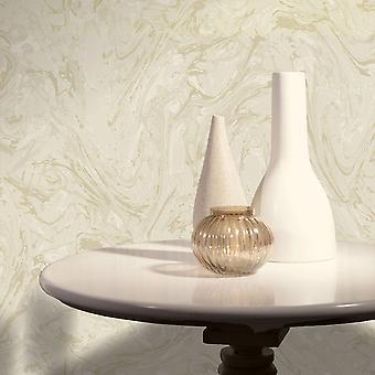 Marblesque marmer effect behang goud metallic glans beige gevlekt K2 Iona