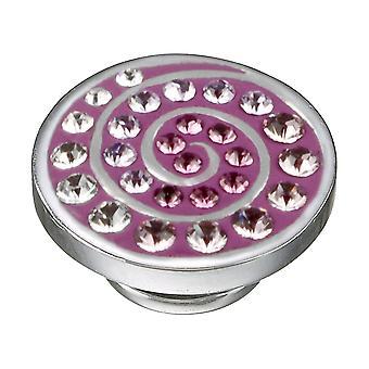 KAMELEON Purple Spiral Sterling Silver JewelPop KJP318