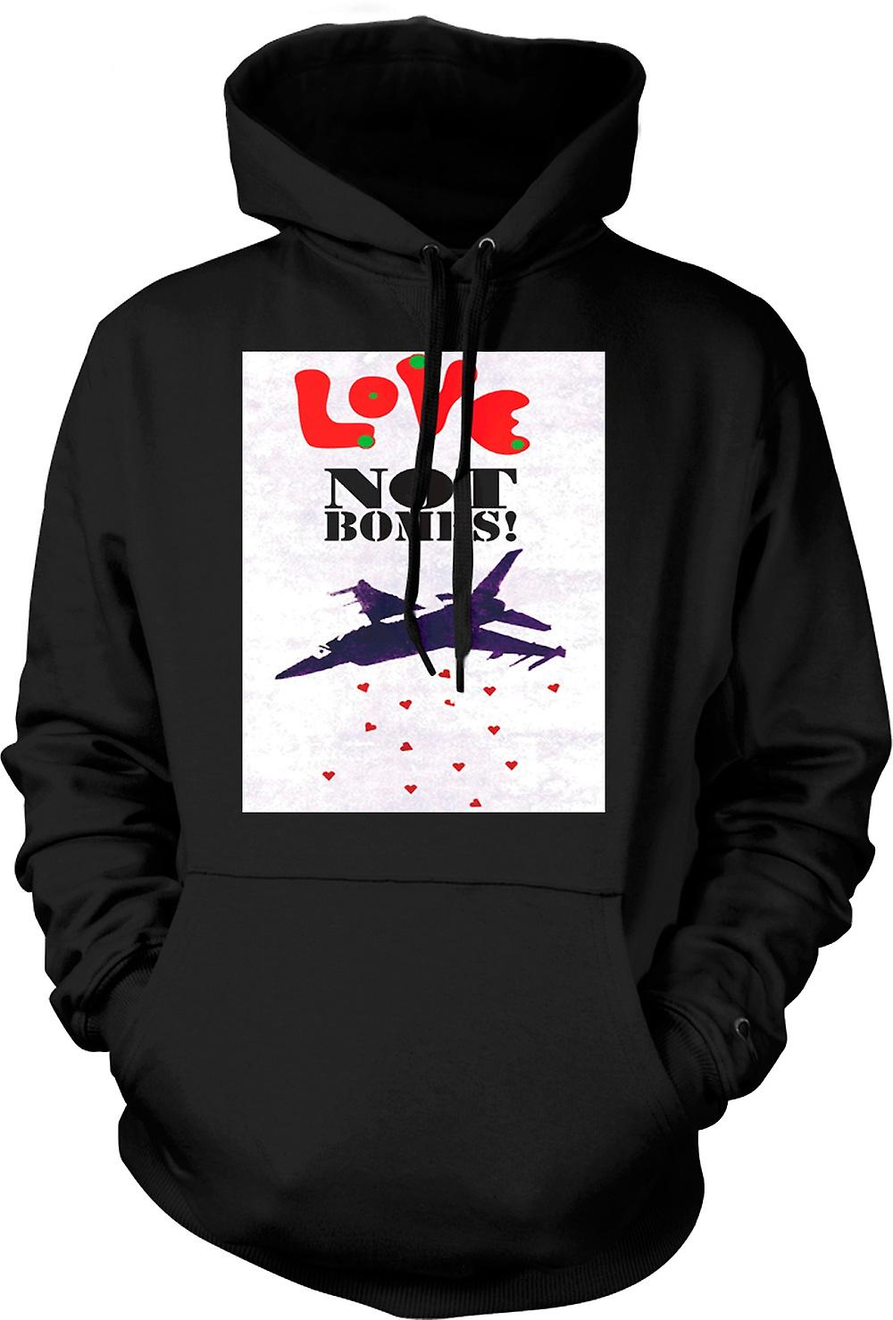 Mens Hoodie - Love Not Bombs - Peace