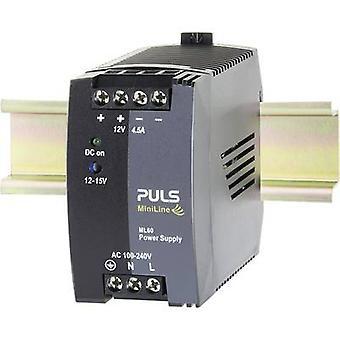 PULS MiniLine ML60.122 Rail mounted PSU (DIN) 12 Vdc 4.5 A 54 W 1 x