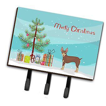 Miniatuur Fox Terriër kerstboom leiband of sleutelhaak