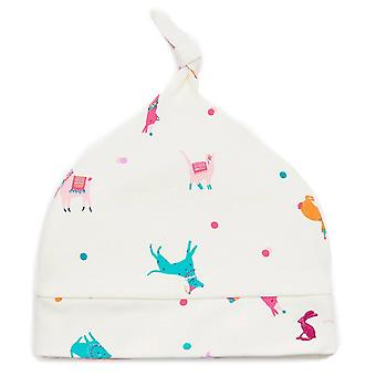 Joules Baby Girls Koo Knotted Hat Cream Festival Friends