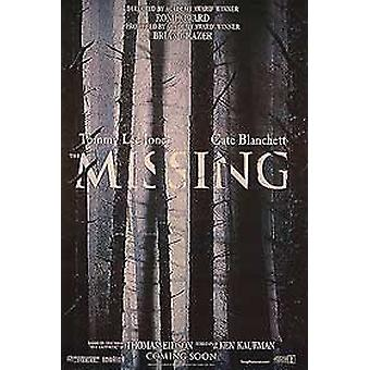 The Missing (Double Sided Advance) Original Cinema Poster