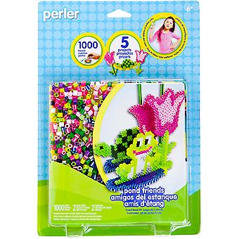 Perler Fun Fusion Fuse Bead Activity Kit Pond Friends 80 62965