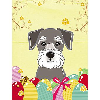 Schnauzer Easter Egg Hunt Flag Canvas House Size BB1888CHF