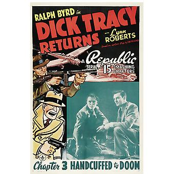 Dick Tracy Returns Chapter 3 Handcuffed To Doom 1938 Movie Poster Masterprint