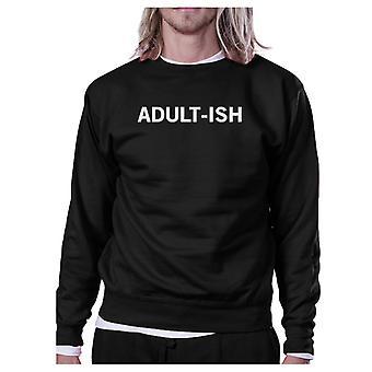 Adult-ish svart tröja rolig tillbaka till skolan Pullover Fleece