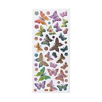 Metallic Flutterby Sticker Sheet for Kids Crafts | Kids Insect & Bug Crafts