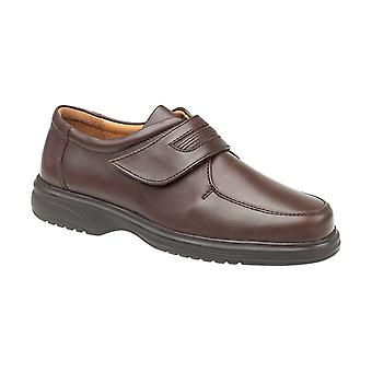Amblers Berlin Featherlight Mens Velcro Shoes Leather Fastening Straps Footwear