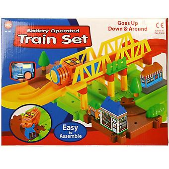 Battery Operated Train Set Kids Toy Activity made from Plastic