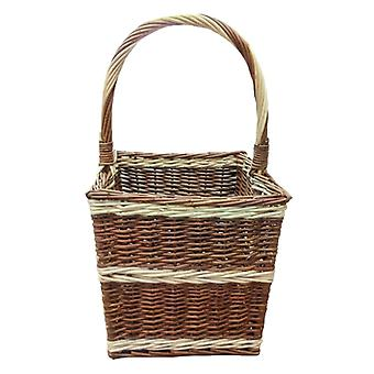 Beaufort Retangular Wicker Shopping Basket