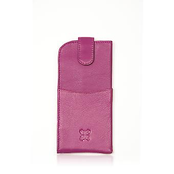 Leather Glasses Case in Pink