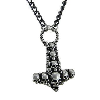 Alchemy Gothic Skullhammer Thor's Hammer hänge med halsband