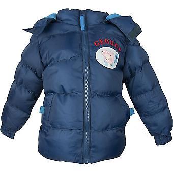 Boys George Peppa Pig Hooded Winter Jacket