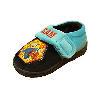 New Kids Boys Novelty Fireman Sam Cartoon Character Slipper 63683
