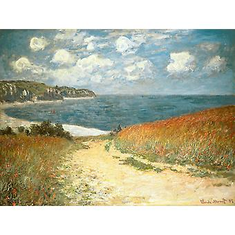 Claude Monet - Beach and Clouds (1882) Poster Print Giclee