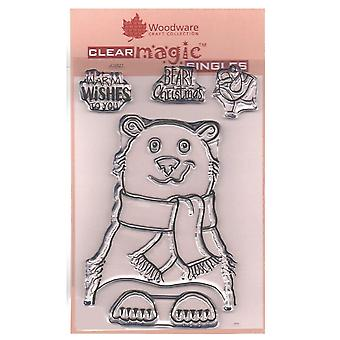 Woodware Clear Stamp Polar Bear autoritratto 4 Set