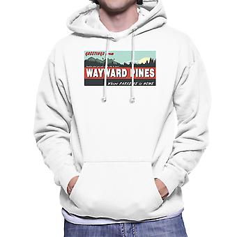 Where Paradise Is Home Wayward Pines Men's Hooded Sweatshirt