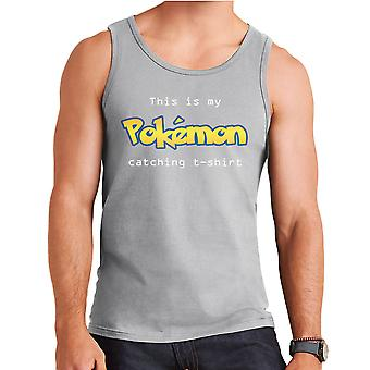 This Is My Pokemon Catching T-Shirt Logo Men's Vest
