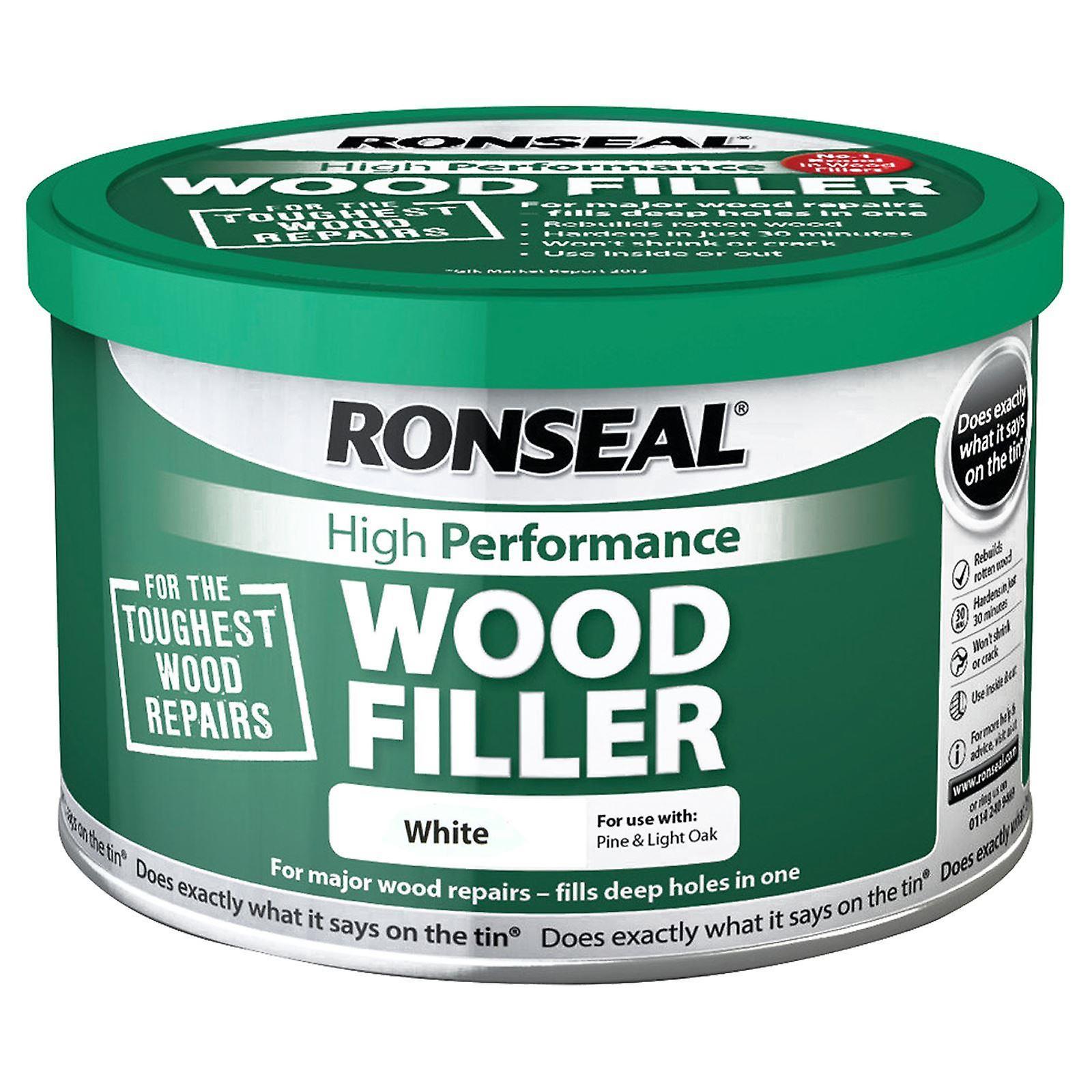 Riempitore di legno ad alte prestazioni 275g di Ronseal - bianco