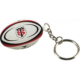 GILBERT Stade Toulousain rugby ball key ring
