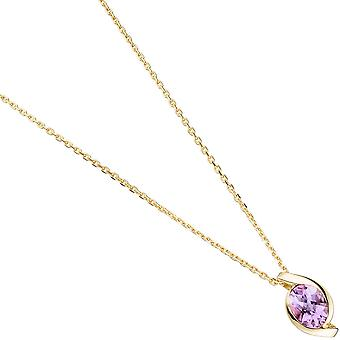 333 followers gold yellow gold Amethyst 1 purple violet gold pendant