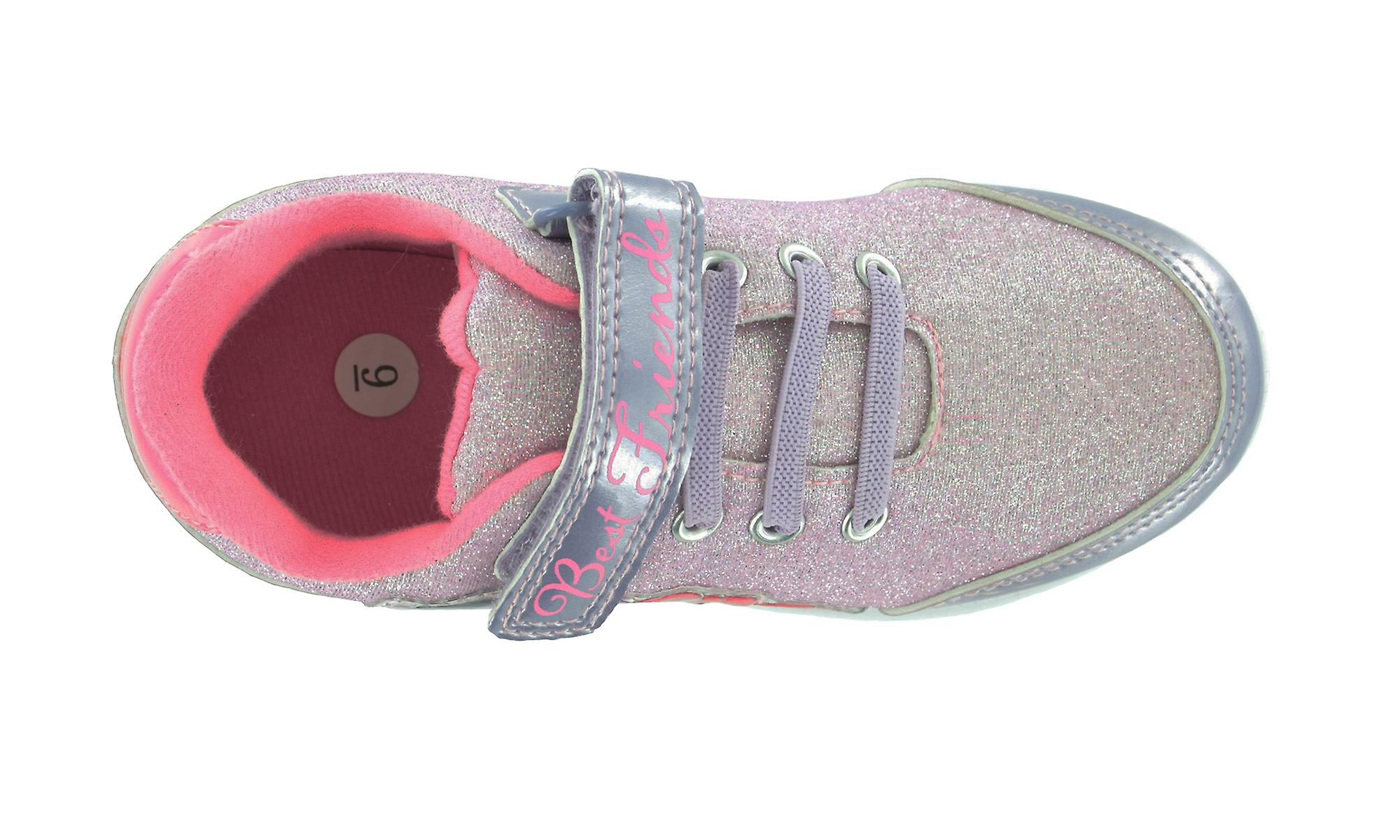 Girls MLP My Little Pony Glitter Pink Hook & Loop Trainers Joggers Shoes UK Sizes 6 - 12