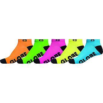 Globe Fluro 5 Pack Socks - Multicoloured