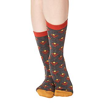 Audrey women's super-soft bamboo crew socks in charcoal   By Thought