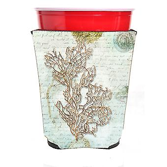 Carolines skatter SB3040RSC koraller røde Solo kopp drikke isolator Hugger