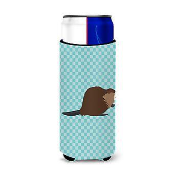 Eurasische Biber Blue Check Michelob Ultra Hugger für schlanke Dosen