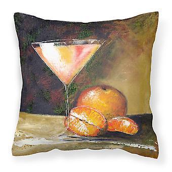 Orange Martini by Malenda Trick Canvas Decorative Pillow