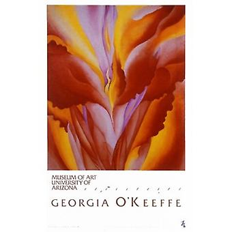 Red Canna Poster Print by Georgia OKeeffe (23 x 34)
