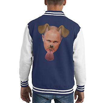 Vladimir Putin Dog Snapchat Filter Kid's Varsity Jacket