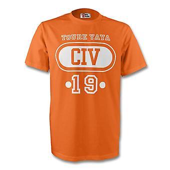Yaya Toure Ivory Coast Civ T-shirt (orange) - Kids