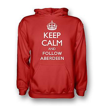Garder calme et suivre Aberdeen Hoody (rouge)