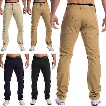 Men's Chino Jeans trousers 5-Pocket trousers easy summer thin cotton slim fit