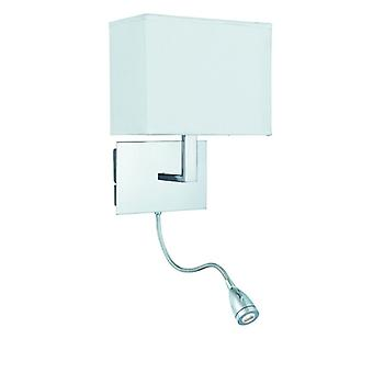 Chrome Dual Arm Wall Bracket With Led Flexi Arm - Searchlight 6519cc