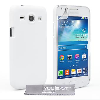 Yousave Tillbehör Samsung Galaxy Core Plus hårda Hybrid Case - vit
